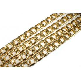 Lánc Ø 14mm x 9mm arany aluminium