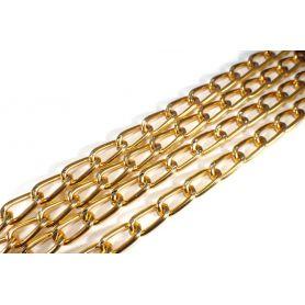 Lánc Ø 15mm x 7mm arany aluminium