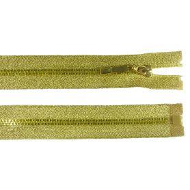 Lurex húzózárak -Arany-Ezüst- 60cm