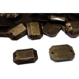 Fémhatású varrható akril 12x17mm