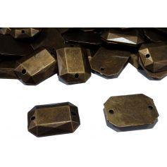 Fémhatású varrható akril 12x17mm MIX-50%