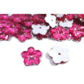 Varrható akril strassz -Virág- 13mm