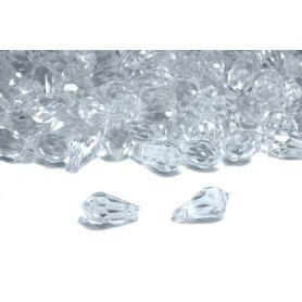 Csepp alakú akril kristály függő 5x10mm