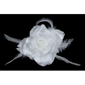 Virág kitűző, sok színben - 10cm