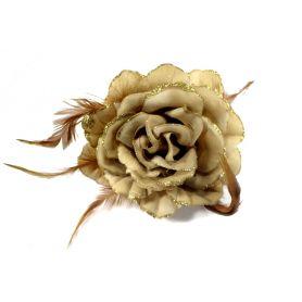 Virág kitűző, sok színben - 12cm