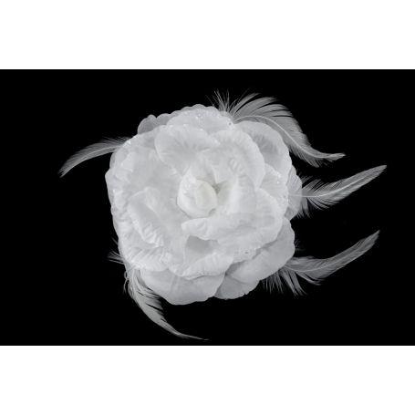 Virág kitűző, sok színben - 14cm