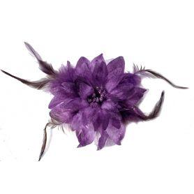 Virág kitűző, hajdísz, hajcsat sok színben - 12cm