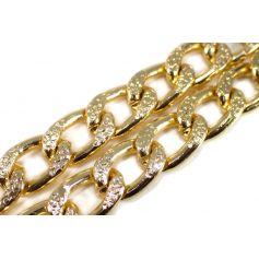Lánc Ø 18mm x 12mm arany aluminium