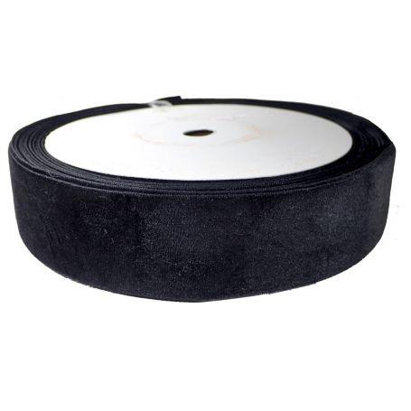 Bársony szalag -Fekete-4cm (25m)