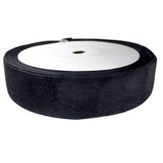 Bársony szalag -Fekete-5cm (25m)