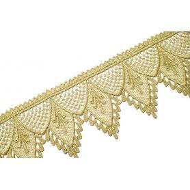 Méteres légcsipke arany lurex-100mm