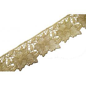 Méteres légcsipke arany lurex-70mm