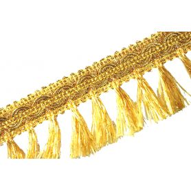 Bojtos bortni 50mm - arany lurex -