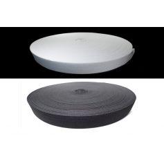 Gumi szalag -fekete fehér- 30mm