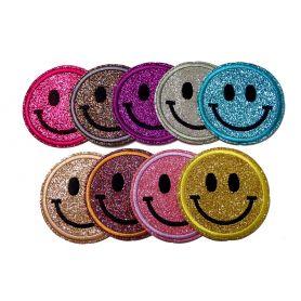 Felvasalható Glitter Smiley -63mm