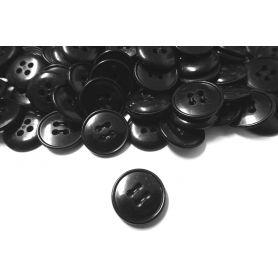 Négylyukú öltönygombok -Fekete-18mm