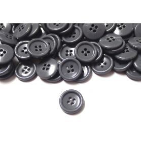 Négylyukú öltönygombok -Szürke-18mm