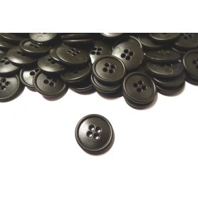 Négylyukú gombok -Sötétzöld-20mm