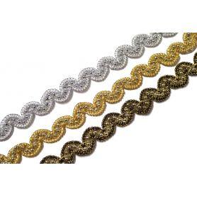 Bortni - arany - ezüst- fekete 12mm