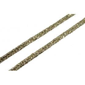 Bortni, paszomány 3mm - arany lurex -
