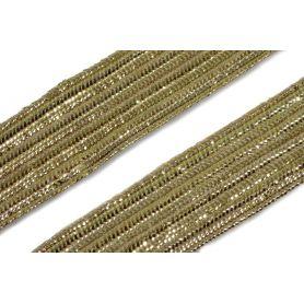Bortni szalag 14mm - arany lurex -