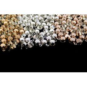 Strassz kristály fém foglalatban -Ø 5mm