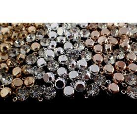 Strassz kristály fém foglalatban -Ø 8mm