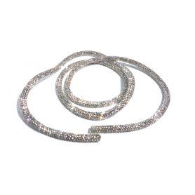 Flexibilis strassz kristály cső -Ø6mm