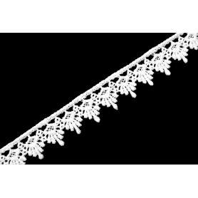 Rugalmas csipke - Fehér - 2cm (Nr.3364)