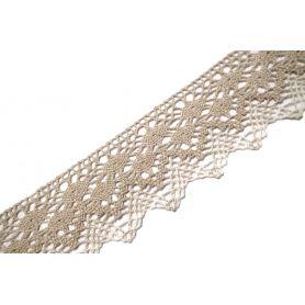 Pamut csipke -Fehér-szürke - 5cm (Nr.3760)