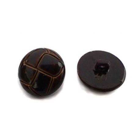Bőrhatású gomb -Ø25mm