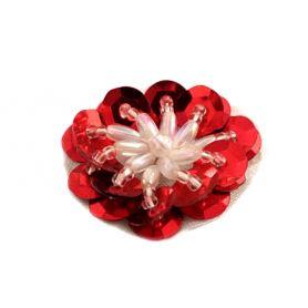 Flitter virágok sok színben - 3cm