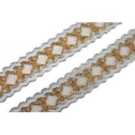 Bortni 17mm - arany ezüst lurex -