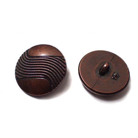 Fémhatású gomb -Ø28mm