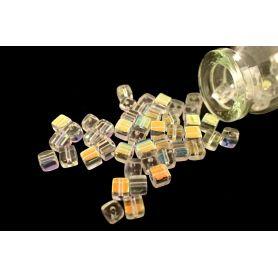 Kocka csiszolt kristály gyöngy BR AB 4mm