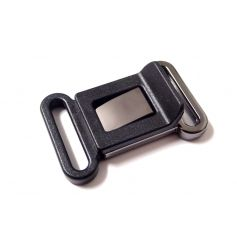 Fémhatású-műanyag csat -25mm
