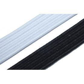 Gumi szalag -fehér-fekete- 10mm