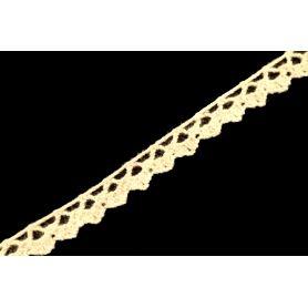 Méteres pamut csipke -Nyers- 1cm (Nr.4250)
