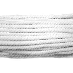 Pamut zsinór Fehér Ø7mm (27m)