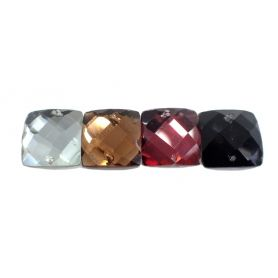 Csiszolt strassz kristály  18mm x 18mm