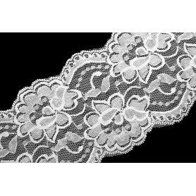 Elasztikus csipke -fehér- 10cm '10-01'