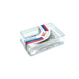 Gombostű 30x0.6mm Üvegfejű, Fehér