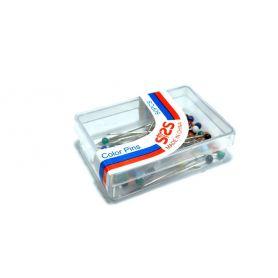 Gombostű 30x0.6mm Üvegfejű, Színes
