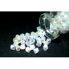 Rondelle csiszolt kristály gyöngy RON 2 AB a opal ss17