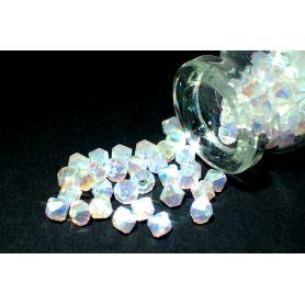 Rondelle csiszolt kristály gyöngy RON2 AB opal ss17