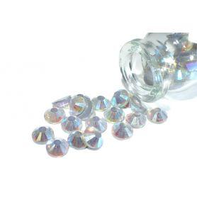 Ragasztható strassz kristály R130 AB Ø 6.5mm