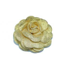 Lurex rózsák Ø 8cm -Arany-Ezüst-