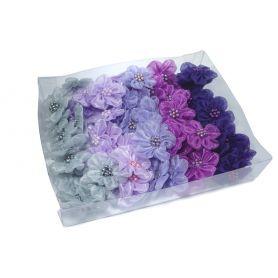 Organza virágok -Vegyes- Ø 30mm