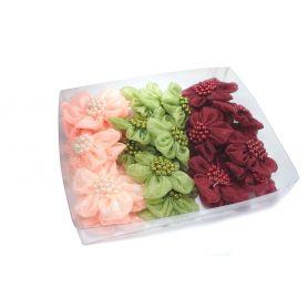 Organza virágok -Vegyes- Ø 50mm
