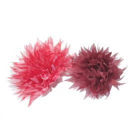 Organza virágok -Vegyes- Ø 70mm